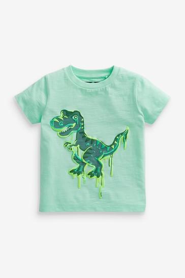Mint Dino Appliqué T-Shirt (3mths-7yrs)