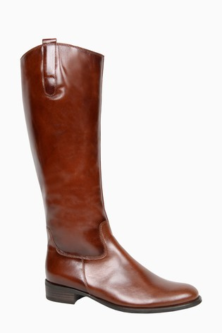 Gabor Brook Sattel Leather Knee Length Fashion Boots