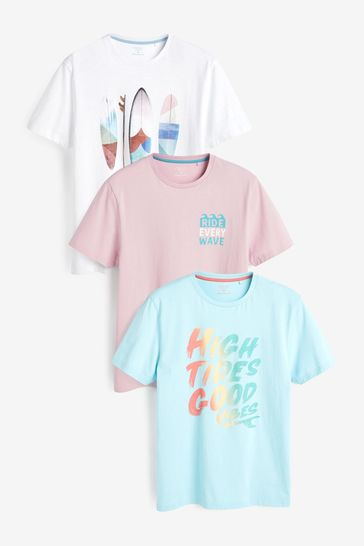 Surf Mix Graphic T-Shirts 3 Pack