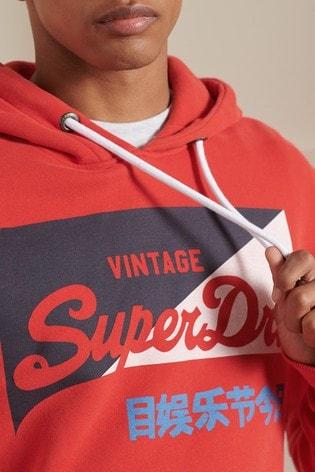 Superdry Vintage Logo Primary Brushed Hoodie