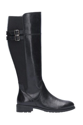 Hush Puppies Black Arla Long Boots