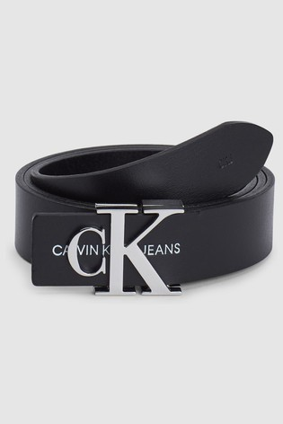 Calvin Klein Jeans Black Jeans Monogram Belt