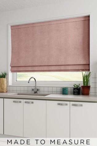 Soft Velour Pink Made To Measure Roman Blind