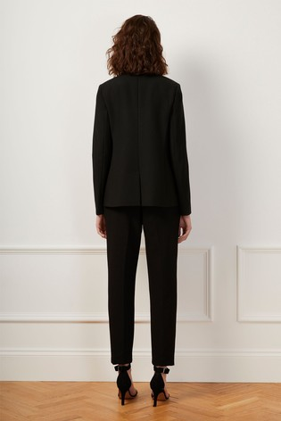 French Connection Black Whisper Ruth Fitted Blazer