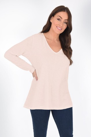 Live Unlimited Curve Pink Long Sleeve Swing T-Shirt