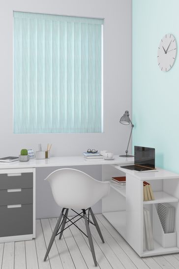 Abstract Texture Teal Blue Made To Measure Vertical Blind