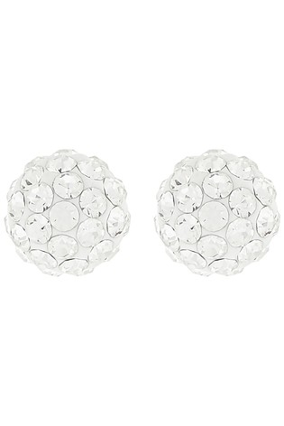 Accessorize Clear St Pave Ball Studs