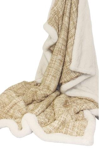 Metallic Faux Fleece Throw by Riva Home