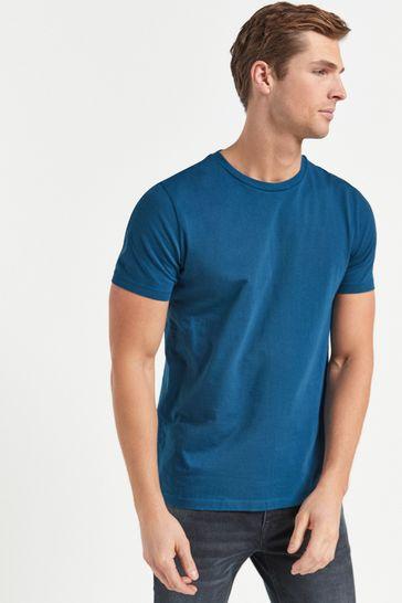 Teal Slim Fit Crew Neck T-Shirt
