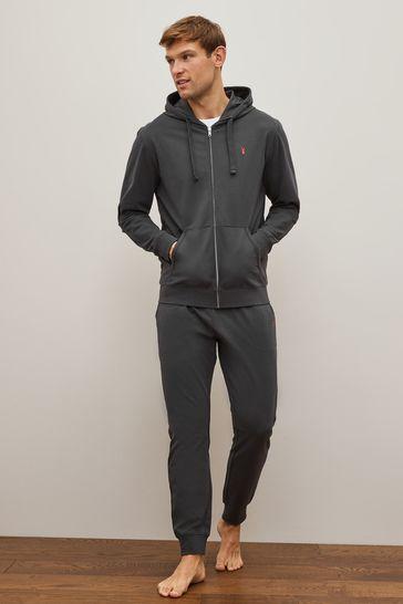 Slate Lightweight Zip Through Hoodie