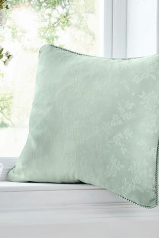 Serene Blue Ebony Jacquard Cushion