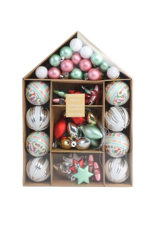 Paperchase Bright House Bauble Pack