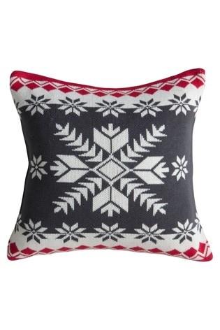 Knitted Fairisle Pattern Scandi Cushion by Gallery Direct