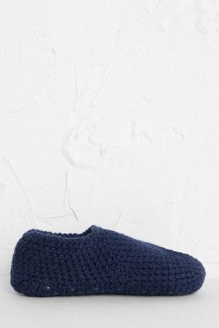 Seasalt Cornwall Blue Quiet Room Slipper Socks