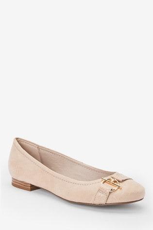Nude Hardware Ballerina Shoes