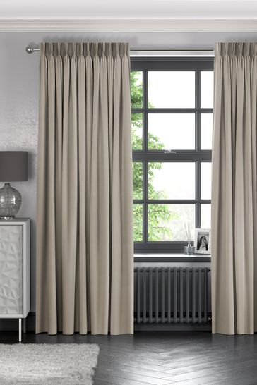 Imogen Truffle Natural Made To Measure Curtains