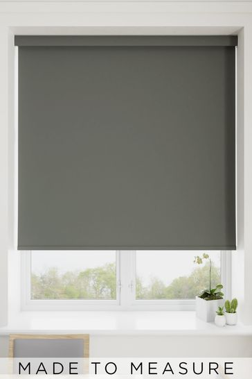 Haig Charcoal Grey Made To Measure Blackout Roller Blind