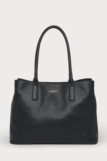 L.K.Bennett Black Lillian Leather Tote Bag
