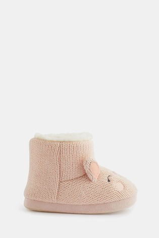 Accessorize Pink Bella Bunny Slipper Boots