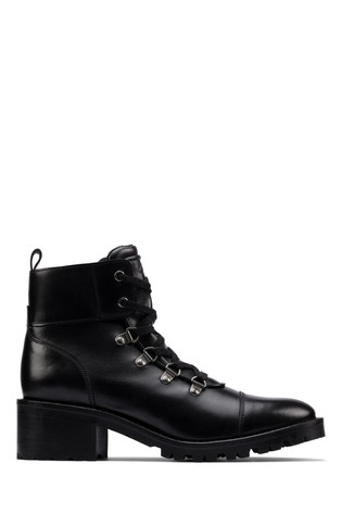 Clarks Black Leather Roseleigh Sky Boots