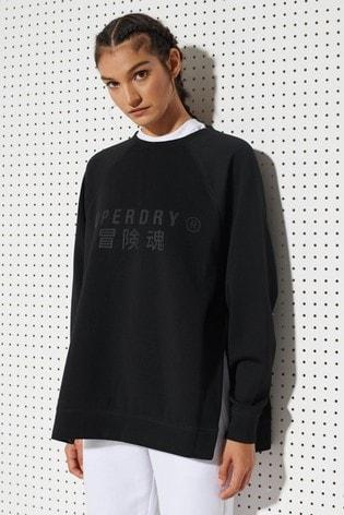 Superdry Training Graphic Oversized Crew Sweatshirt