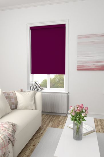 Haig Plum Purple Made To Measure Blackout Roller Blind