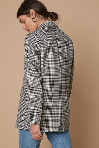 Black/White Check Blazer