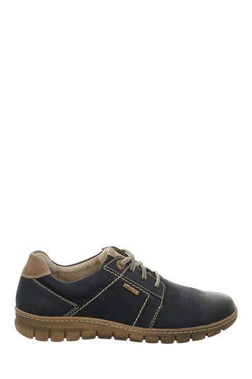 Josef Seibel Blue Steffi Waterproof Lace-Up Shoes