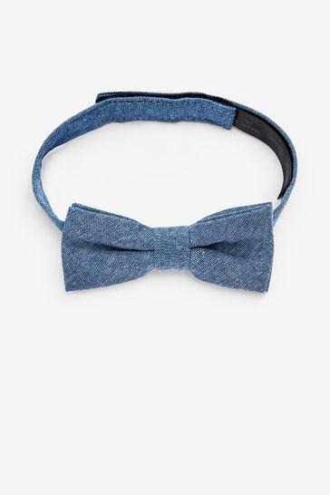 Blue Plain Bow Tie (1-16yrs)