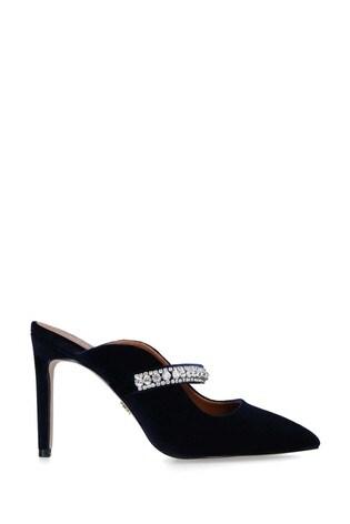 Kurt Geiger London Blue Duke Velvet Heel Shoes