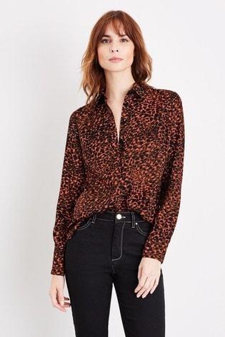 Damsel In A Dress Mayumi Leopard Print Blouse