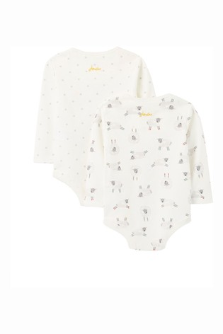 Joules White The Bodysuit Organically Grown Cotton Two Pack