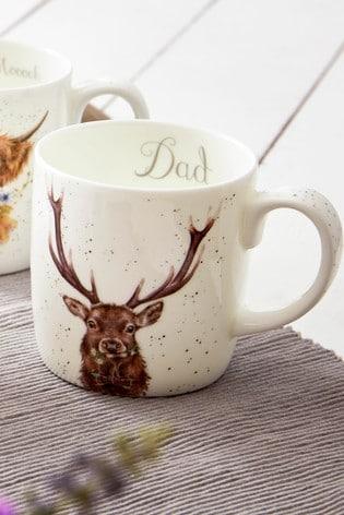 Royal Worcester Wrendale Large Stag Dad Mug