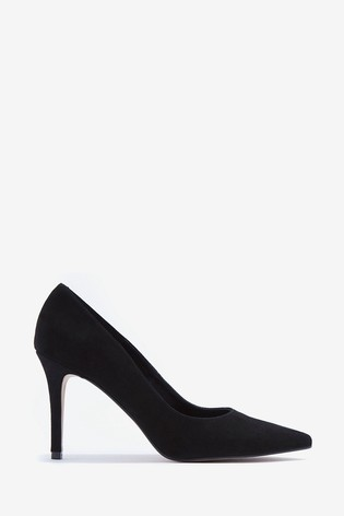 Mint Velvet Sarah Black Suede Court Shoes