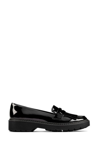 Clarks Black Pat Witcombe Dawn Shoes
