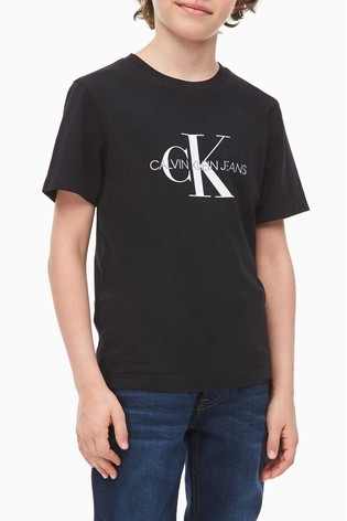 Calvin Klein Black Jeans Monogram Logo T-Shirt