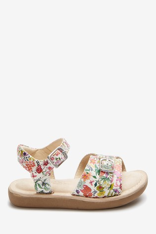 Floral Leather Standard Fit (F) Little Luxe™ Sandals