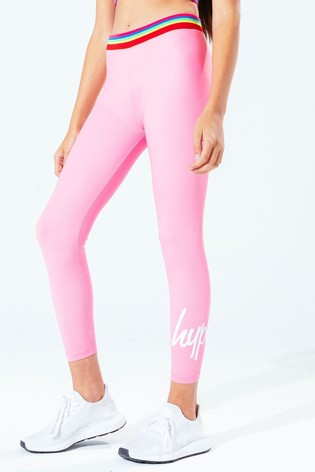 Hype. Kids Pink Rainbow Tape Leggings