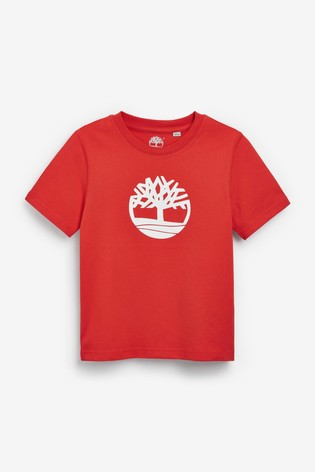 Timberland Red Logo T-Shirt
