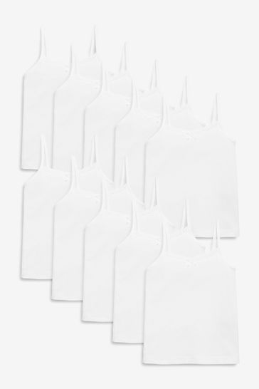White 10 Pack Camis (1.5-16yrs)
