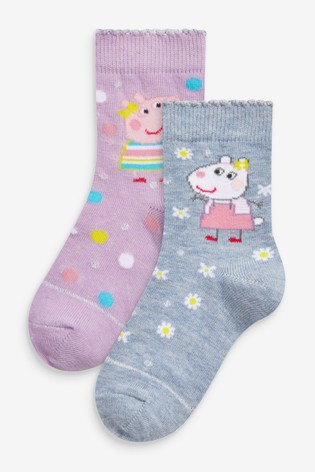 Peppa Pig And Suzy Sheep 2 Pack Ankle Socks