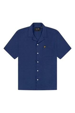 Lyle & Scott Cotton Linen Resort Shirt