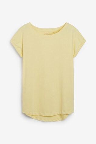 Yellow Cap Sleeve T-Shirt