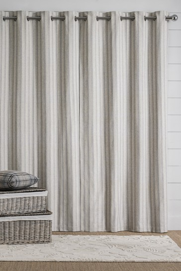 Vintage Stripe Eyelet Curtains