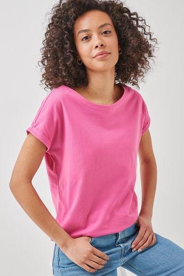 Bright Pink Cap Sleeve T-Shirt
