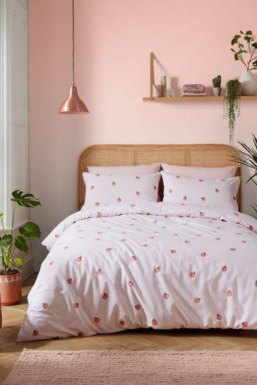 Skinnydip Pink Peachy Duvet Cover and Pillowcase Set