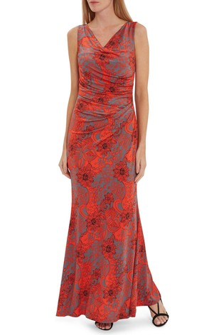 Gina Bacconi Gaelle Floral Jersey Maxi Dress