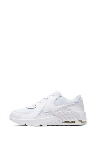 Nike White Air Max Excee Junior Trainers