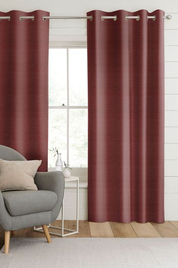 Jasper Cherry Red Made To Measure Curtains