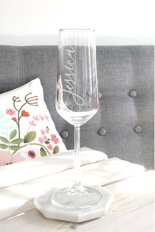 Personalised Champagne Glass by Oh So Cherished